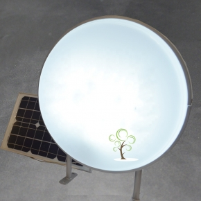 Solar powered round light